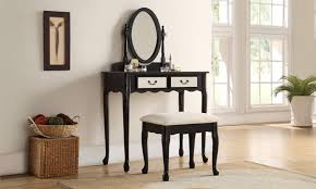 dressing table with mirror and drawers dressing table mirrored drawers groupon goods