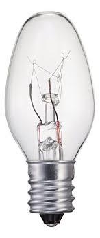 philips 133876 clear 15 watt c7 1 2 candle base ceiling fan light