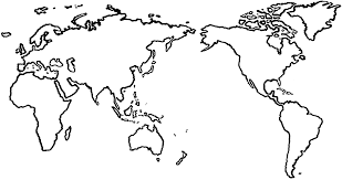 World Map Unlabeled Simple Blank World Map Simple Blank World Map