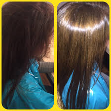 fabulous before u0026 after pic of our alfaparf keratin hair treatment
