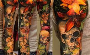 skull flower sleeve gardening flower and vegetables