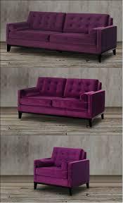 Velvet Sofa Set This Stunning Velvet Sofa Set In Rich Eggplant Purple Is The