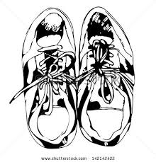 sport shoes freehand sketch black white stock vector 141313684