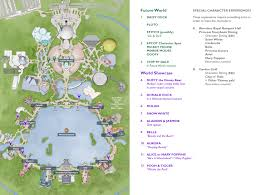 Disney World Epcot Map Comprehensive Character Location Maps For Walt Disney World