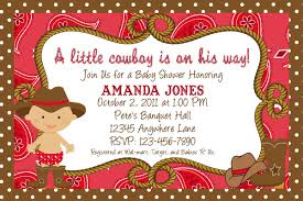 templates stylish customized western baby shower invitations