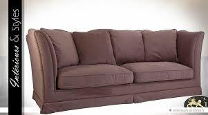 canape de couleur canapé 3 places tissu couleur chataigne avec coussins intérieurs