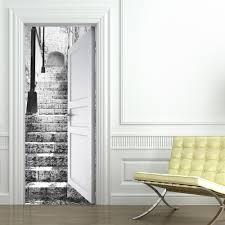 sticker trompe oeil sticker de porte magnifique sur dacoration intarieure pour le