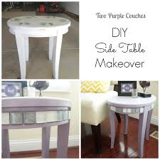 Diy Side Table Diy Side Table Makeover Two Purple Couches