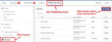 tutorial cara membuat iklan di facebook tutorial bagaimana cara menggunakan facebook canvas sifufbads