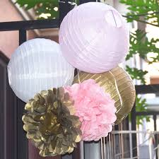 aliexpress com buy 6pcs set gold pink white paper lanterns