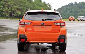 red subaru crosstrek 2018 first look 2018 subaru crosstrek autoz