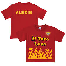 monster jam el toro loco uniform red t shirt halloween holiday