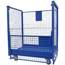 multipurpose roll container wire mesh euro stacker lke gmbh