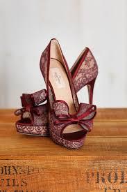burgundy wedding shoes fall fashion wedding shoes modwedding