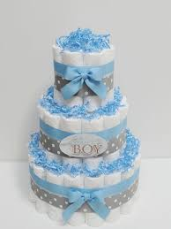 Baby Shower Centerpiece Ideas For Boys by Baby Boy Blue And Gray Diaper Cake Baby By Lanasdiapercakeshop