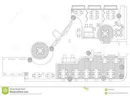 Symbols On Floor Plans by Standard Cafe Furniture Symbols On Floor Plans Stock Vector