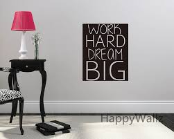 aliexpress com buy work hard dream big motivational quote wall