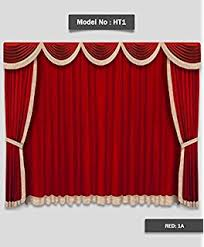 Theater Drape Amazon Com Saaria Burgundy Home Theater Velvet Curtain Drapes