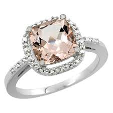 gold and morganite ring 14k white gold morganite ring cushion cut