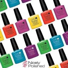 nicely polished cnd shellac nail polish all colours top coat