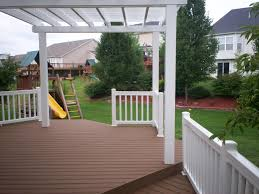 White Vinyl Pergola by White Vinyl Pergola For Composite Deck In St Louis St Louis