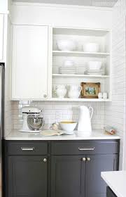 open shelf kitchen cabinet ideas 10 creative ways to update kitchen cabinets my colortopia
