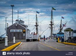 macmillan pier in provincetown cape cod massachusetts stock
