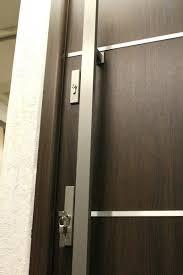 front doors sofia stainless steel modern entry door in walnut