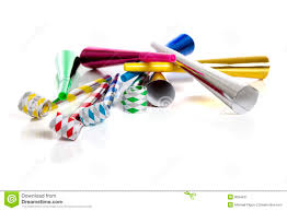 noise makers party noise makers on white royalty free stock photography image