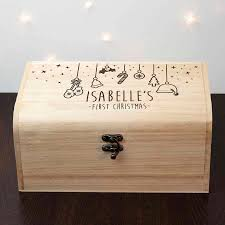 personalised baby u0027s first christmas eve box by letteroom