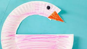 How To Make A Paper Beak - flamingo paper plate craft nerdy mamma