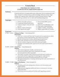 resume sample for restaurant server waitress resume sample