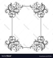 frame with sketch doodles decorative ornaments vector image