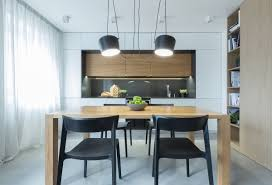 2 modern minimalist home design exposed brick and wooden wall modern minimalist black dining chairs