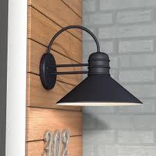 Barn Wall Sconce Black Outdoor Wall Lighting You U0027ll Love Wayfair