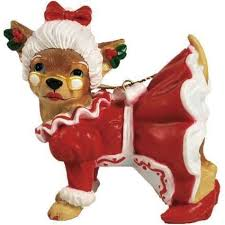 aye chihuahua mrs claus ornament gifts from a distance
