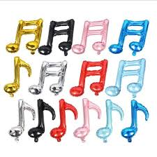 Musical Note Decorations Aliexpress Com Buy 50pcs Lot Birthday Foil Globos Music Notes
