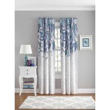 Paisley Shower Curtain Blue your zone paisley bedroom curtain panel walmart com