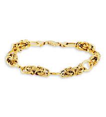 ladies gold chain bracelet images Ladies 14k bonded gold chain twisted link bracelet chain jpg