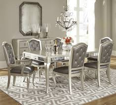diva rectangular table dining room set in champagne by samuel