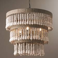 chandelier chandelier three tiered wood beaded chandelier shades of light