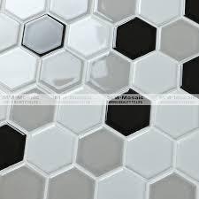 carrelage noir brillant salle de bain mm mosaïque chine brillant blanc mixte gris noir hexagone salle de