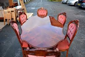 inlaid dining table and chairs nifty italian inlaid dining table and chairs f49 in wonderful home