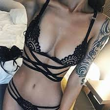 2017 pretty women embroidery bra hollow out see though lace
