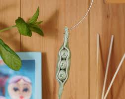 peas in a pod ornament peas in a pod ceramic sculpture pottery ornament couples