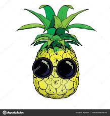 fruit by mail pineapple fruit with glasses stock vector 89534886399 mail ru