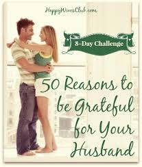 50 reasons to be grateful for your husband happy club