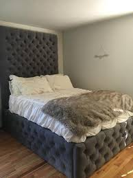Tufted Bed Queen Best 25 Tufted Bed Frame Ideas On Pinterest Tufted Bed Grey