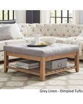 huge deal on lennon pine square storage ottoman coffee table by