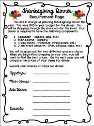 thanksgiving math shopping activity by middle school math lover tpt